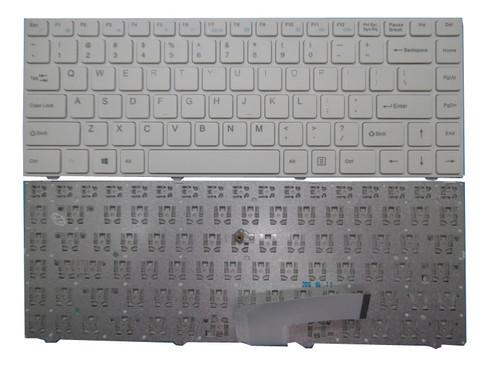 Keyboard For ENZ R34 DK300H PRIDE-K2119 343000018 LT-14101RHWB/N English US White Frame