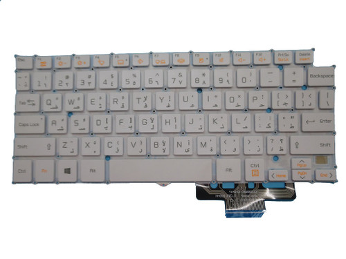 Laptop Keyboard For LG 13Z940 14Z950 HMB8130ELB18 AEW73489803 Arabia AR White Without Frame
