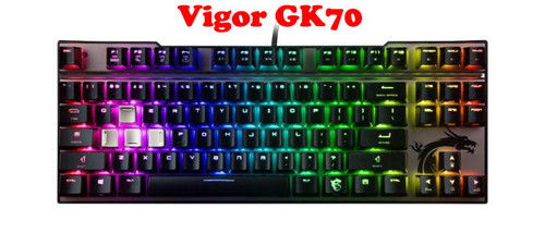 Mechanical Gaming Keyboard For MSI For Vigor GK70 Cherry MX RGB (87 Keys) New Original