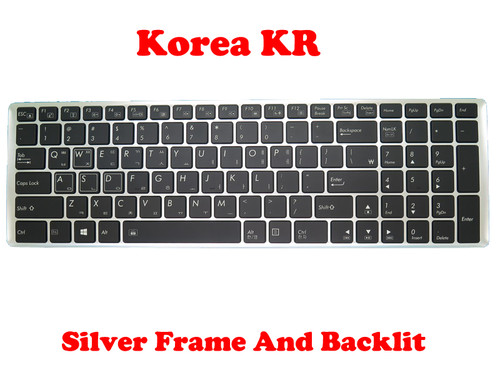Laptop Keyboard For Gigabyte P35X P35X V3 P35X V4 P35X V5 P35X V6 P35X V6-PC4D P35X V6-PC4K4D P35X V7 Korea KR With Silver Frame And Backlit