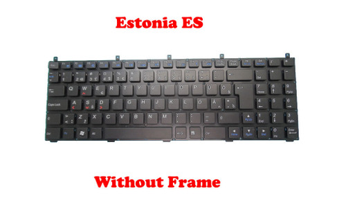 Laptop Keyboard For CLEVO M9800 MP-08J46EE-4302 6-8-X5100-390-1 Estonia ES Without Frame