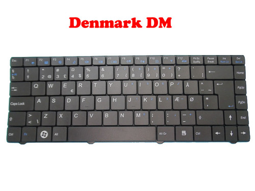 Laptop Keyboard For CLEVO W840 W830 MP-07G36DK-4307 6-80-S3100-030-1 Denmark DM