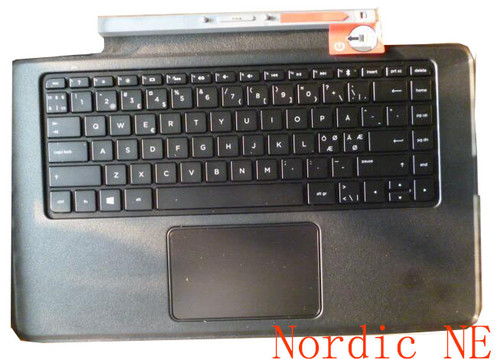 Laptop Bluetooth Keyboard Base For HP 13-J000 796692-DH1 777238-DH1 Backlit&TouchPad Black Nordic NE