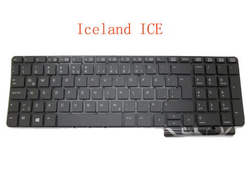 Laptop Keyboard For HP 450 G0 450 G1 455 G1 470 G0 Iceland ICE Black without frame PK1315B1A23 721953-DD1 SG-59320-2WA