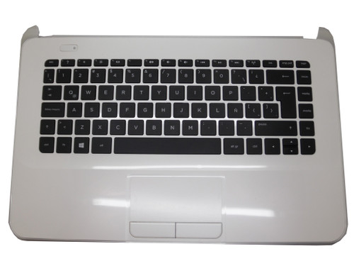 Laptop PalmRest&keyboard For HP 14-D000 White C Shell 747247-161 55012WY00289-G With Black Keyboard Latin LA Used