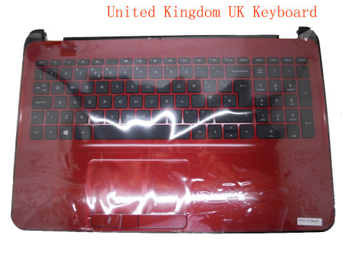 Laptop PalmRest&keyboard For HP 15-D000 747142-031 1A32FUL00600G Red C Shell With Black Keyboard United Kingdom UK