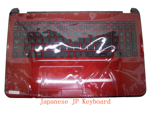 Laptop PalmRest&keyboard For HP 15-D000 747142-291 1A32HTWQ00600G Red C Shell With Black Keyboard Japanese JP