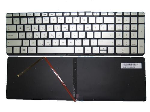 Laptop Keyboard For HP For ENVY 15-U000 X360 Silver without frame with Backlit V140646DS1 774608-151 776256-151 GreeK GK