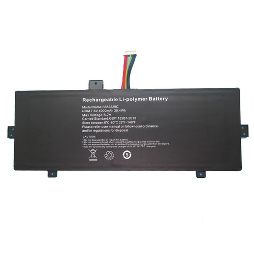 Laptop Battery 3882229C 7.6V 4000mAh 30.4Wh 10Pin 7wires new
