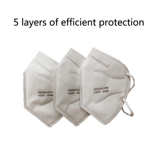 30Pcs/Lot  5 Layers KN95 Mask Safety Protective Mask protection N95 disposable dust-proof breathable industrial dust haze PM2.5 Anti Dust Anti Dust Gas Mask