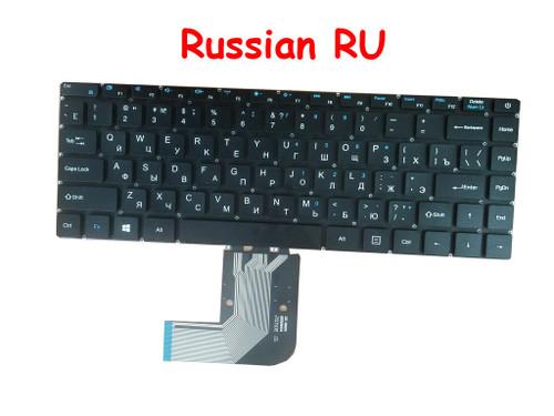 Laptop Keyboard For Teclast F7 PLUS XK-HS105 XS-HS105 MB3181004 YMS-0177-B Russian RU Black NO Frame Non-backlit version.