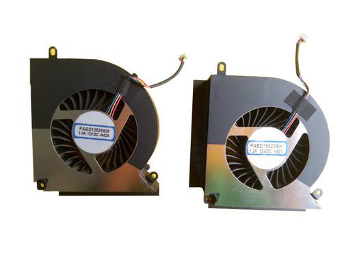 Laptop 4PIN CPU GPU FAN For MSI GT76 9SG Titan DT MS-17H1 GT76 9SG-048CN i9-9900K RTX2080 2070 PABD18525BM N424 1.2A 12VDC PABD18525BH N423 1.2A 12VDC