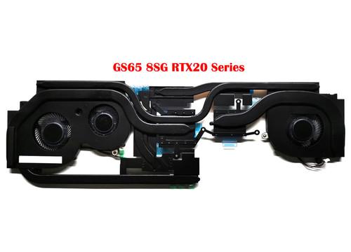 Laptop CPU GPU FAN&Heatsink For MSI GS65 E322500400A87 GS65 8RF-415TH GS65 8SG RTX2060 2070MaxQ 2080MaxQ GS65VR BS5005HS-U2F1 BS5005HS-U2L1 New