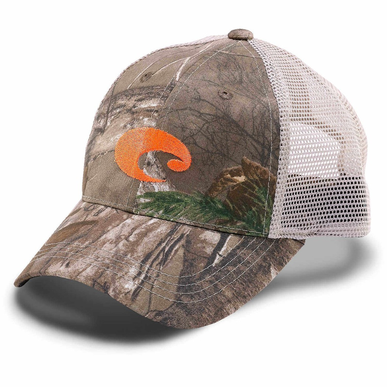 Costa Hat - Costa Mesh Hat - Realtree Orange Logo - Surf and Dirt a6eead627d61