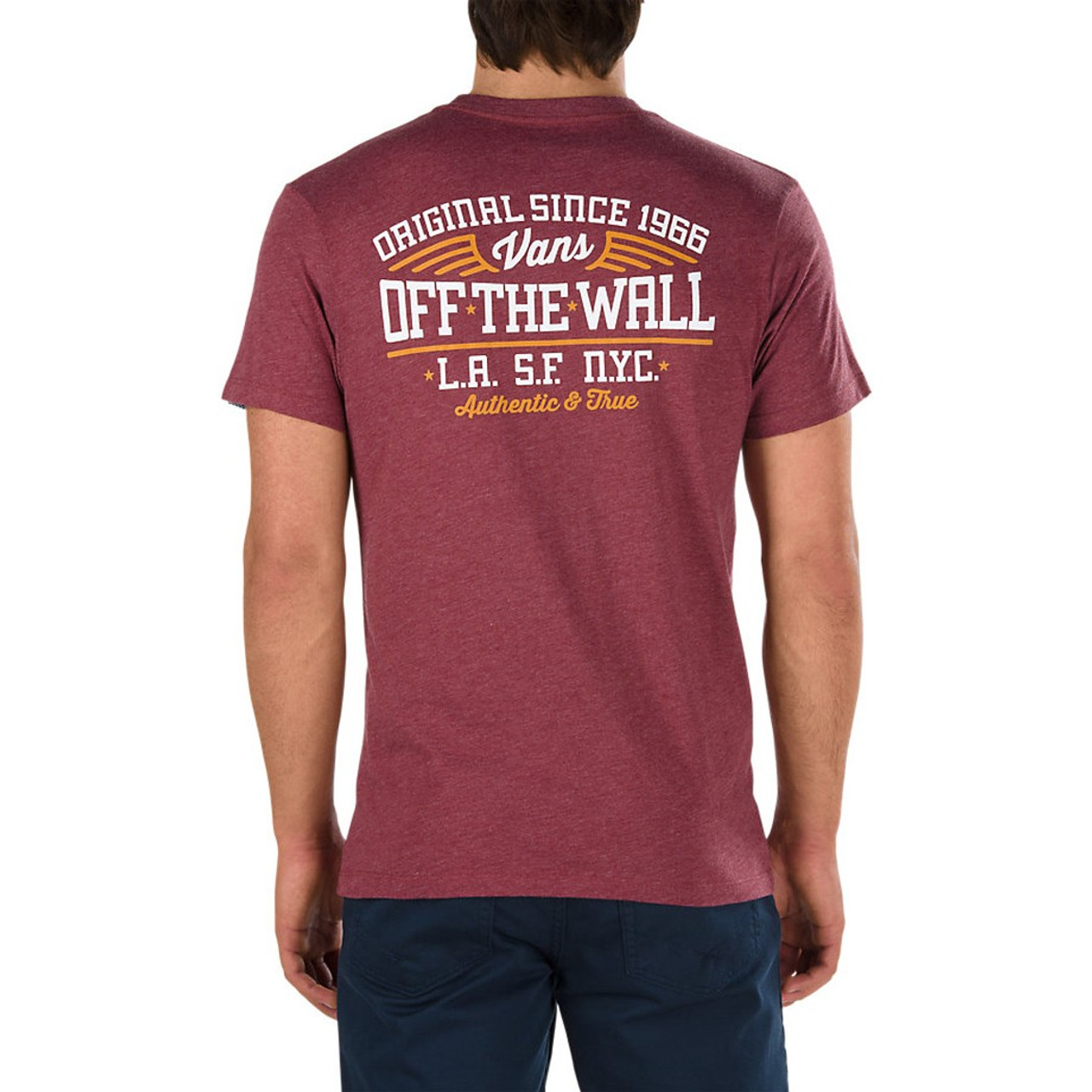 e610b002 Vans Tee Shirt - Since 66 Pocket - Burgundy Heather