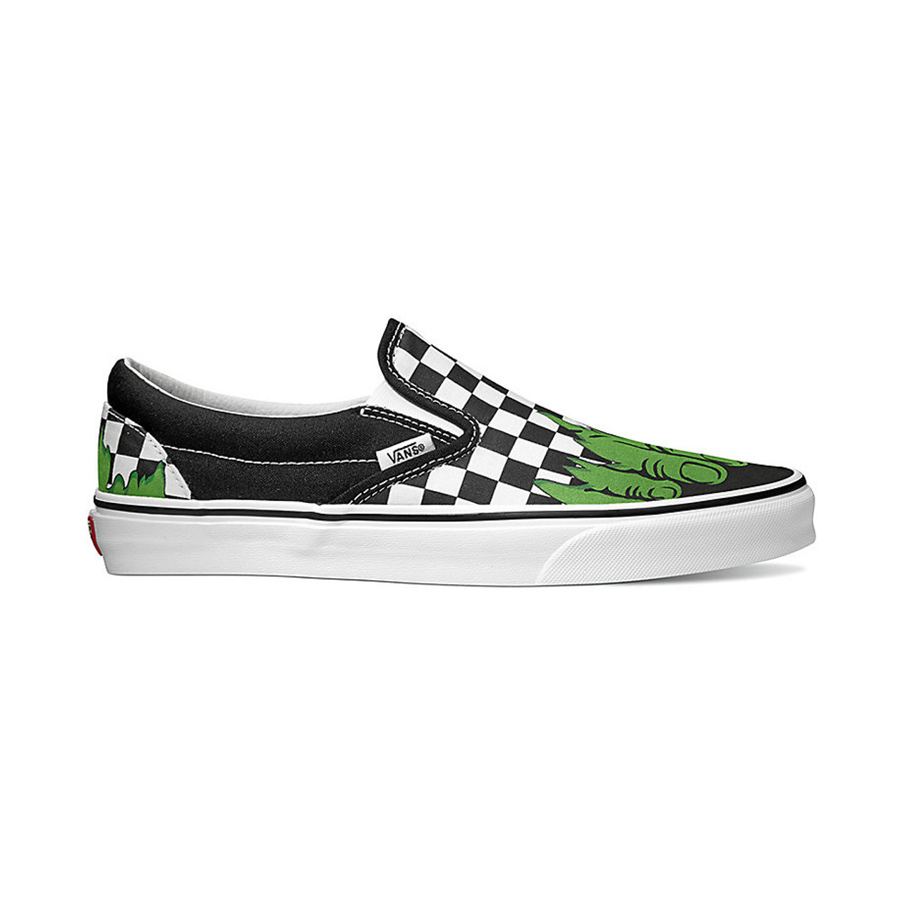4dc4d97b2dbf Vans Shoes - Classic Slip-On - Marvel Hulk Checkerboard - Surf and Dirt