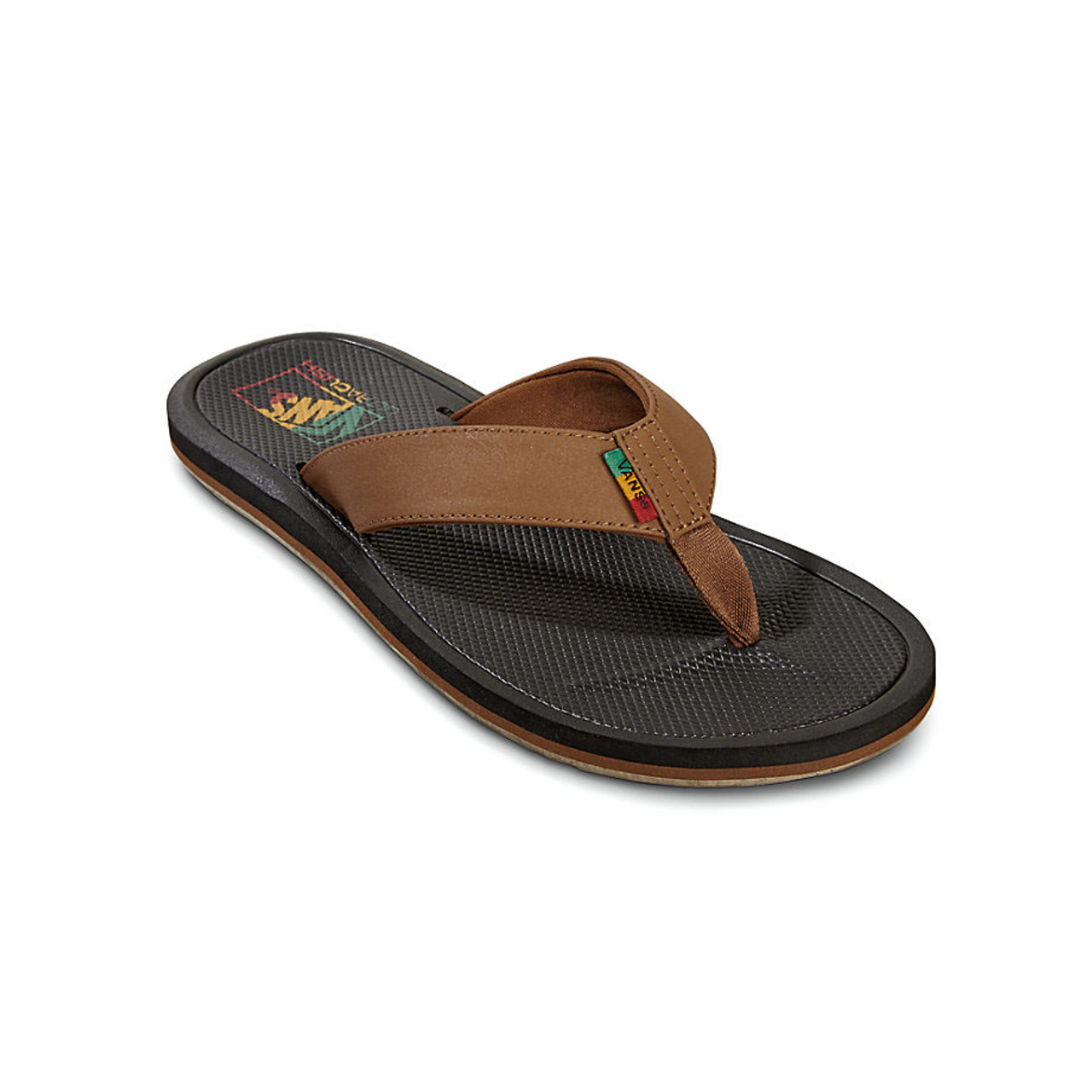 2a59376b2408 Vans Flip Flop - Nexpa Synthetic - Dachshund Black Rasta - Surf and Dirt