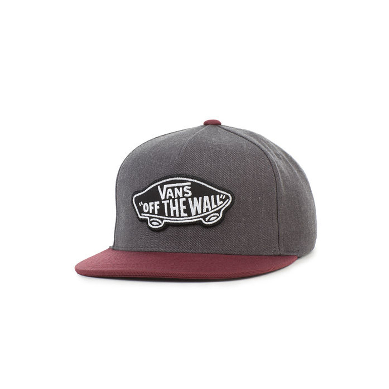 0f20e5c5a Vans Boy's Hat - Classic Patch Snapback - Heather Black/Port Royale