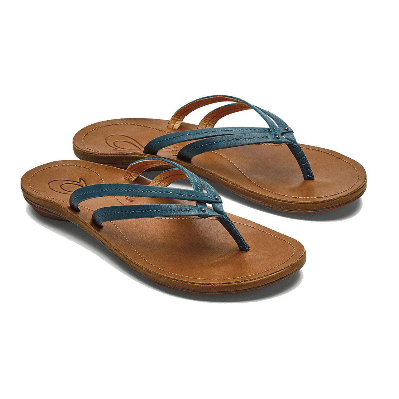 800ad25ca2c8 OluKai Women s Flip Flops - U I - Teal Sahara - Surf and Dirt