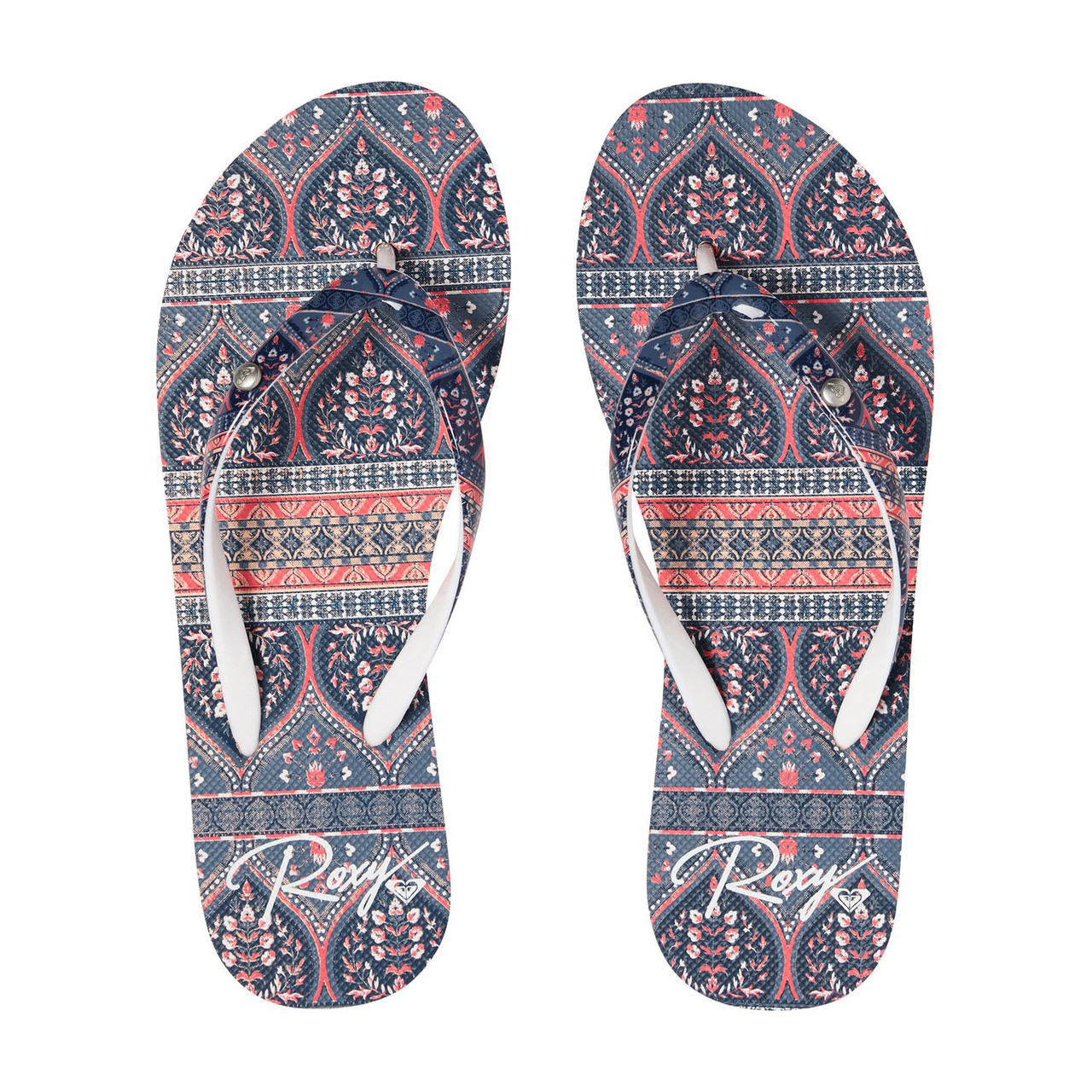 08727b0fa4fce4 Roxy Flip Flop - Portofino II - Blue Print - Surf and Dirt