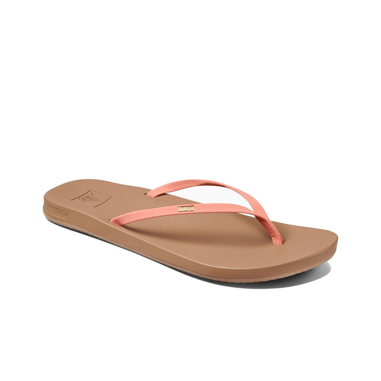ecf2248d9829 Reef Women s Flip Flops - Cushion Bounce Slim - Coral - Surf and Dirt