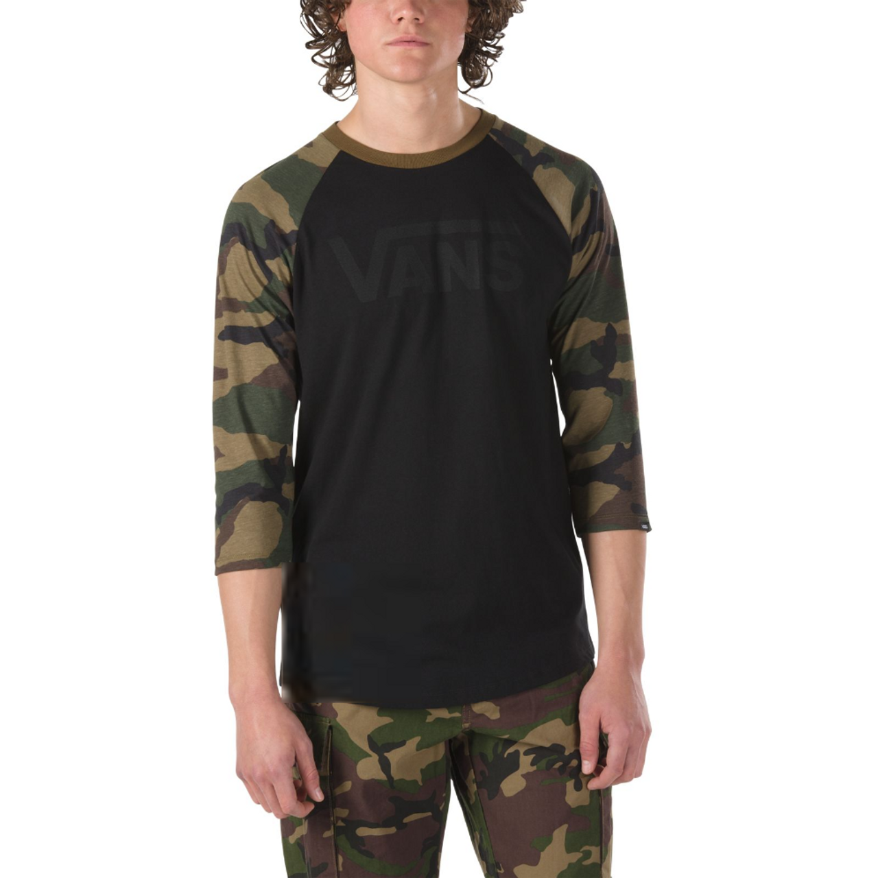 9ba797fd4a Vans Shirt - Vans Classic Raglan - Black Camo - Surf and Dirt