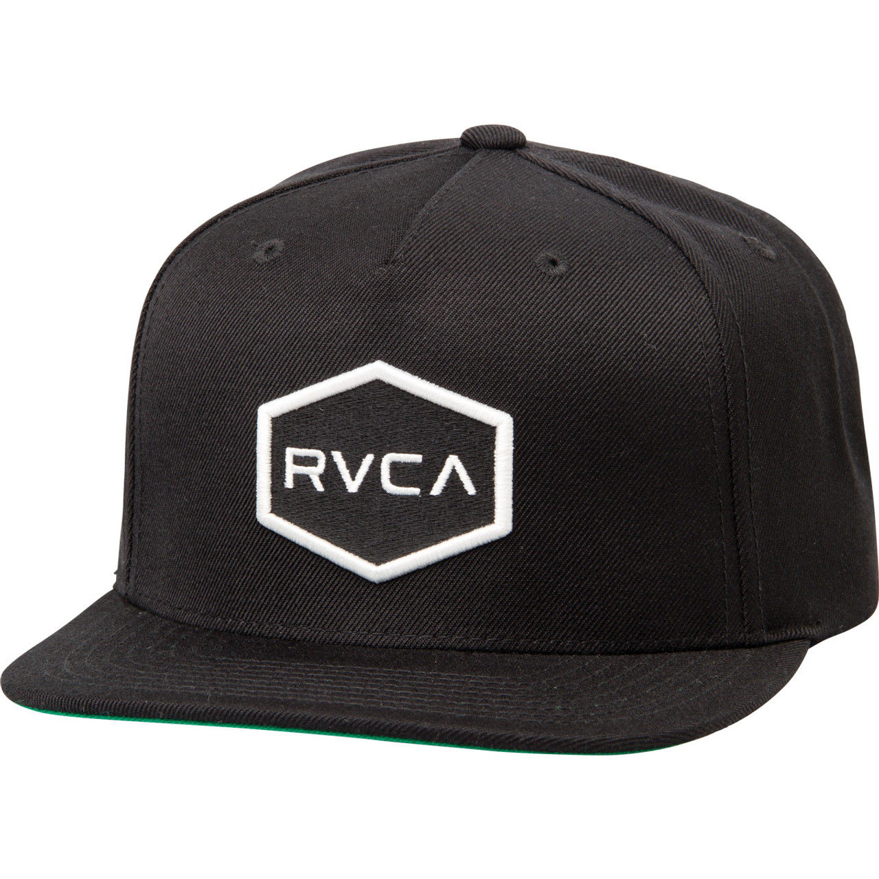 1f4aa4a0 RVCA Hat - Commonwealth Snapback - Black/White - Surf and Dirt