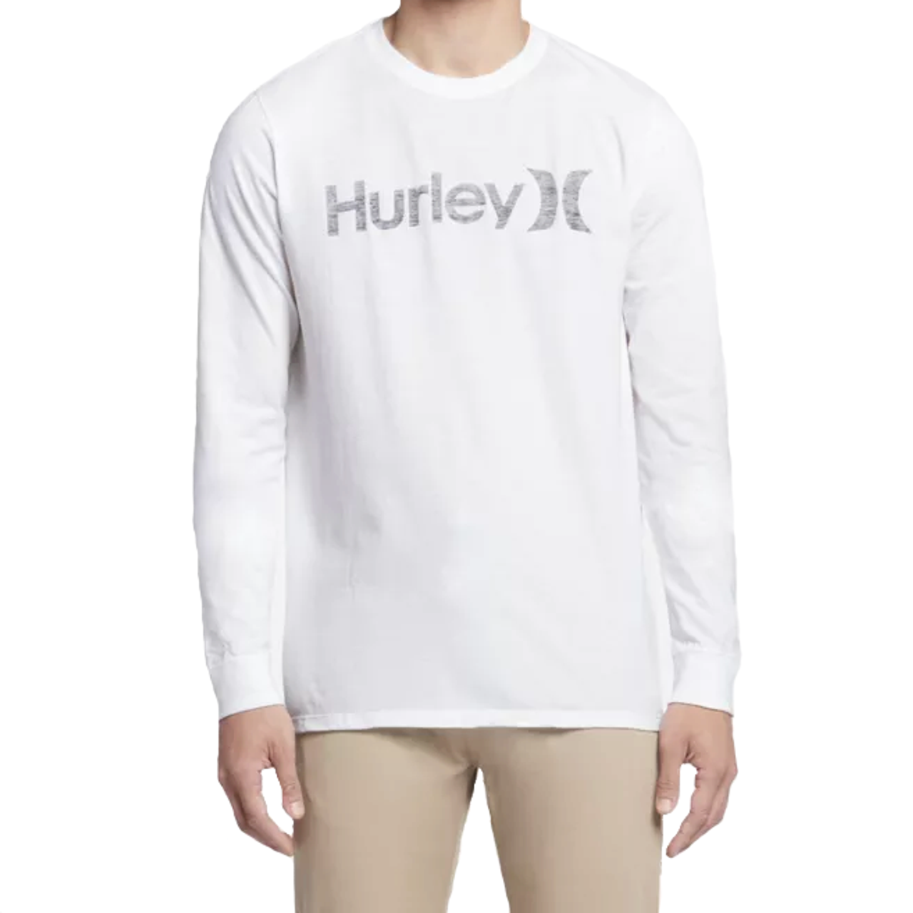 c8c2088e8b Hurley Shirt - One and Only Push Through Longsleeve - White/Black ...