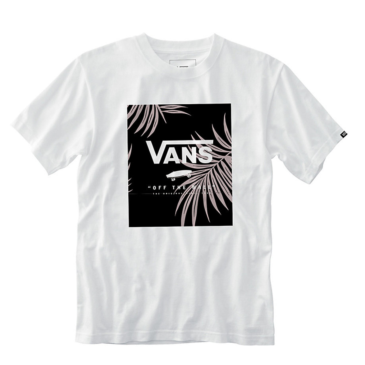 490e07fdaf Vans Tee Shirt - Print Box - White Peace Leaf Floral - Surf and Dirt