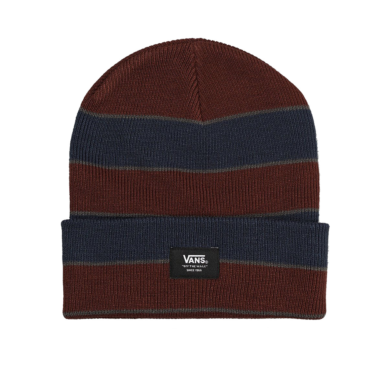 7be2938bd5f Vans Beanie - Striped Cuff - Port Royale Dress Blues - Surf and Dirt