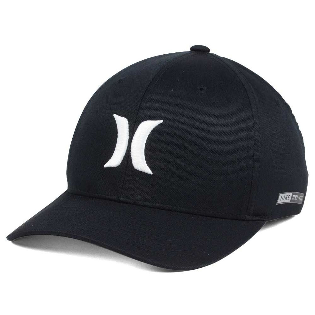 dd874cb9be896 Hurley Hat - Dri-Fit One and Only - Black White - Surf and Dirt
