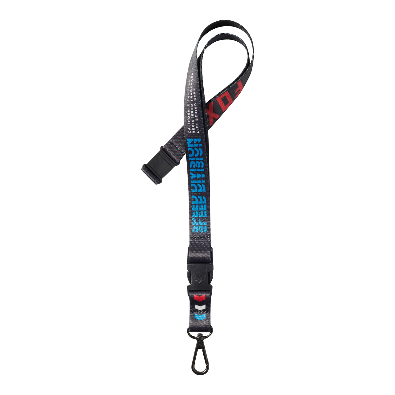 91f1f73fa6 Fox Keychain - Triple Threat Lanyard - Black - Surf and Dirt
