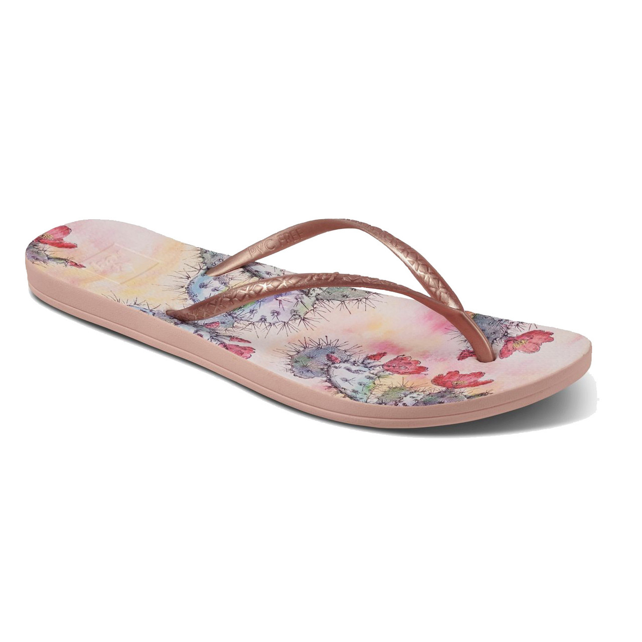 6b7d74abe7c5 Reef Women s Flip Flops - Reef Escape Lux Prints - Cactus Flower - Surf and  Dirt
