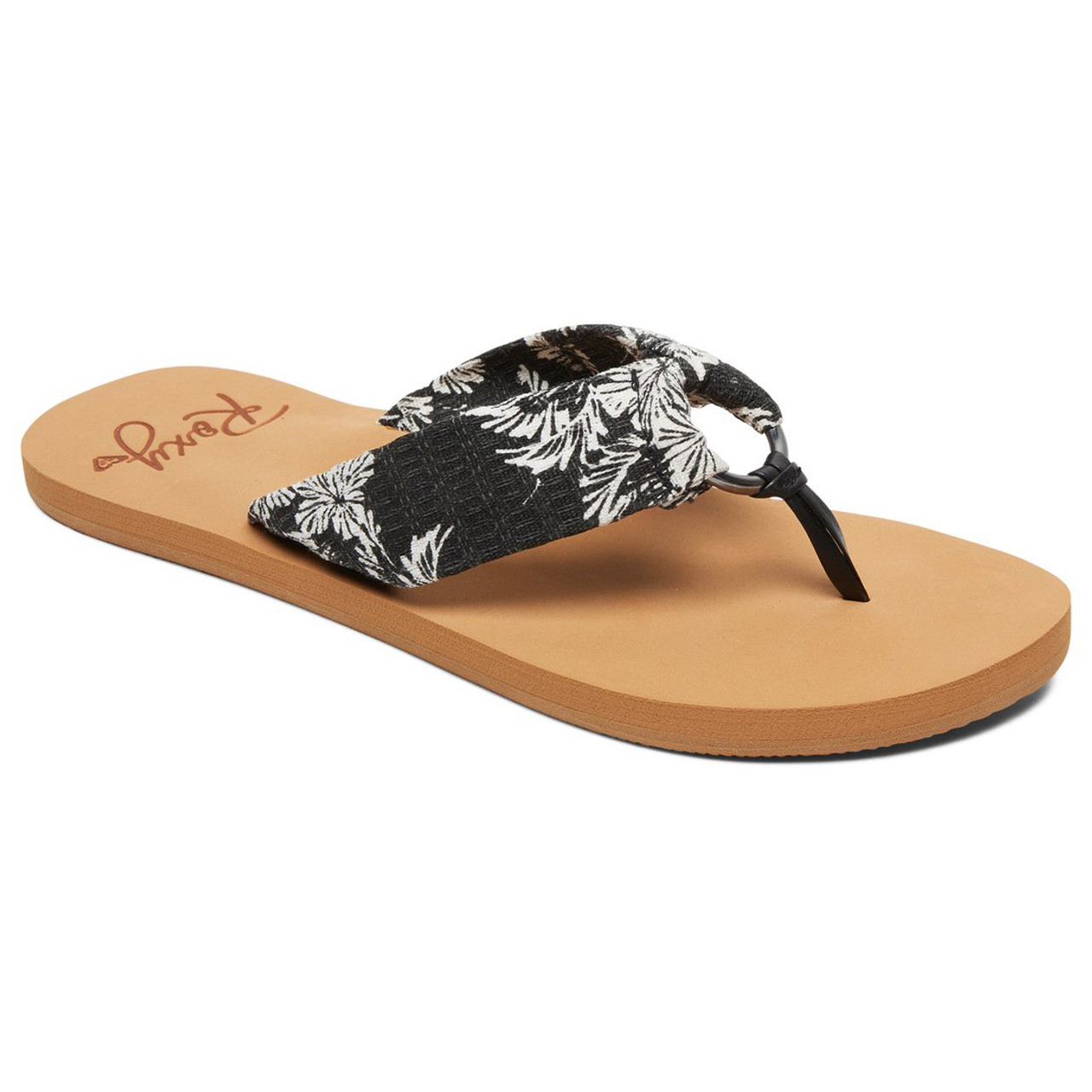 8b75ae6a34d8 Roxy Flip Flops - Paia III - Black White - Surf and Dirt
