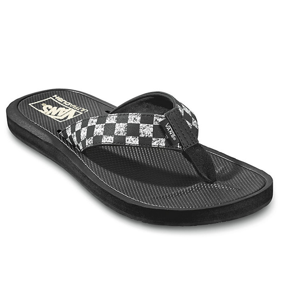 b6b74963ee53 Vans Flip Flop - Nexpa Synthetic - Distressed Checkerboard Black - Surf and  Dirt