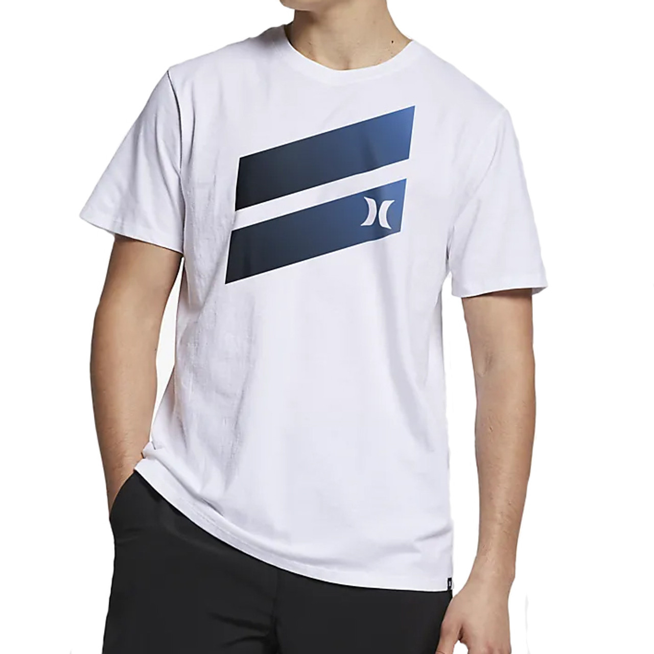 bf85373a6 Hurley Tee Shirt - Icon Slash Gradient - White 2019 - Surf and Dirt