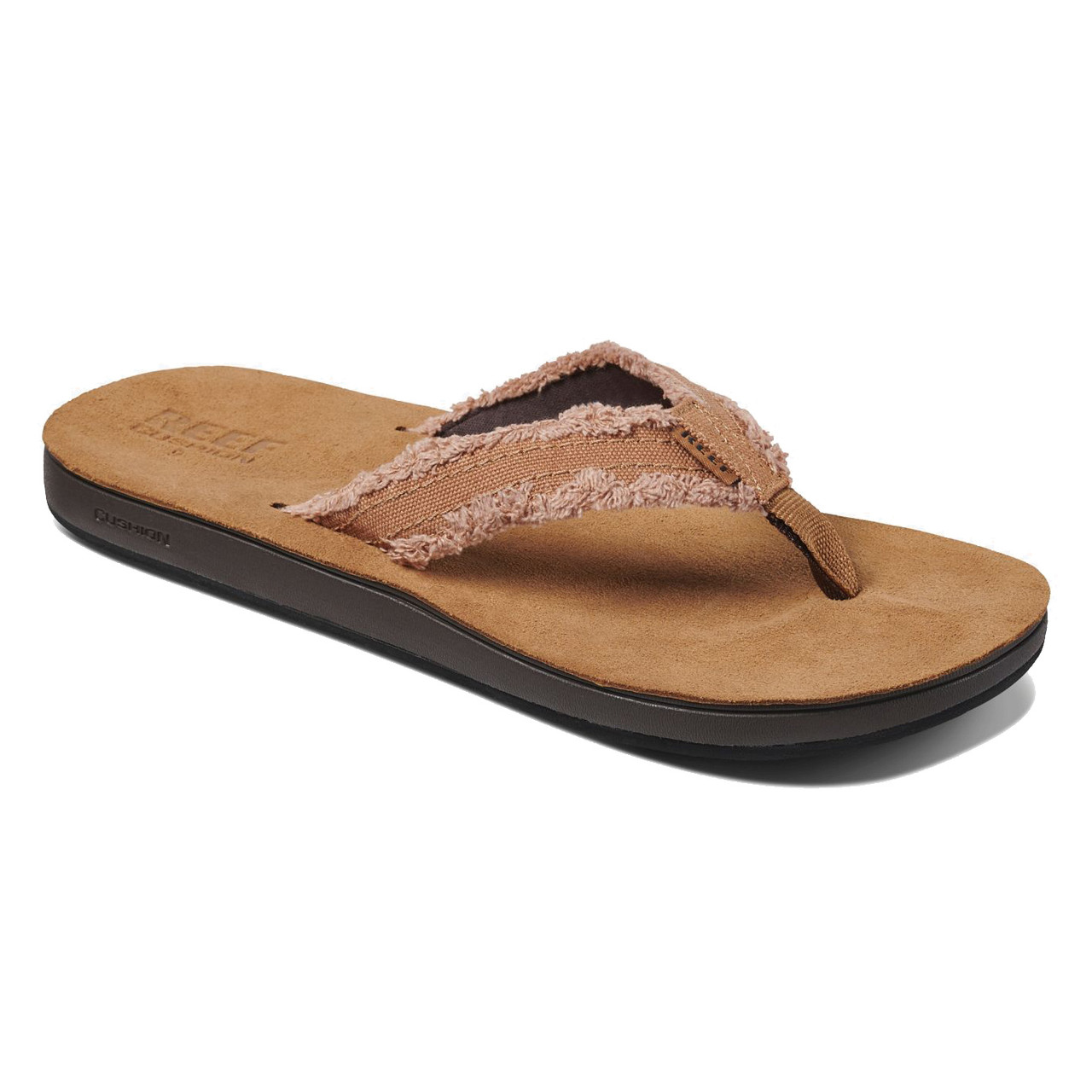 7b09fd4d2b802 Reef Flip Flop - Cushion Fray - Tan - Surf and Dirt