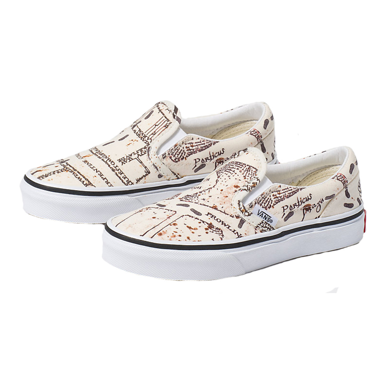 Vans Youth Shoes Classic Slip On Harry PotterMarauders Map