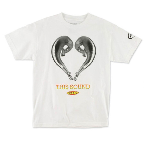 FMF Tee Shirts - Love This Sound - White A