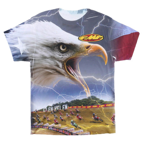 FMF Tee Shirt - Lightning Bird - White