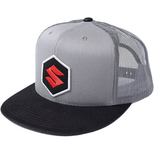 Factory Effex Hat - Mark Suzuki Trucker - Grey