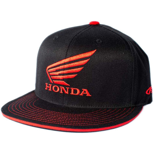 Factory Effex Hat - Honda Wing - Black/Red