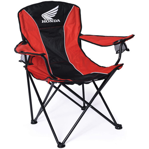Factory Effex Chair - Honda Fold-Out Chair - Black/Red