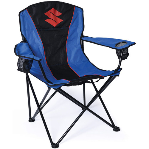 Factory Effex Chair - Suzuki Fold-Out Chair - Black/Blue