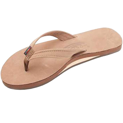 Rainbow Women's Flip Flop - Catalina Single Layer - Dark Brown Leather