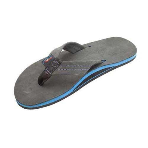 e2451264fafe Rainbow Flip Flops - Premier Blue - Premier Black Leather