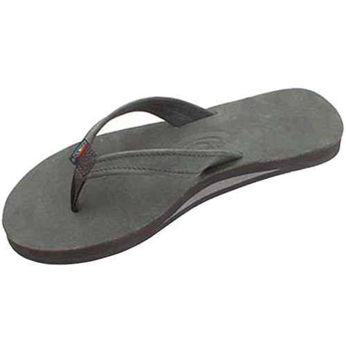 Rainbow Women's Flip Flop - Catalina Single Layer - Premier Black