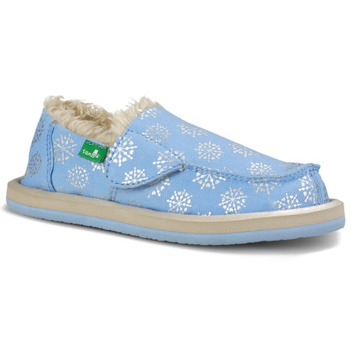 Sanuk Kid's Shoes - Donna Lil Icon Chill - Ice/Silver Snowflake