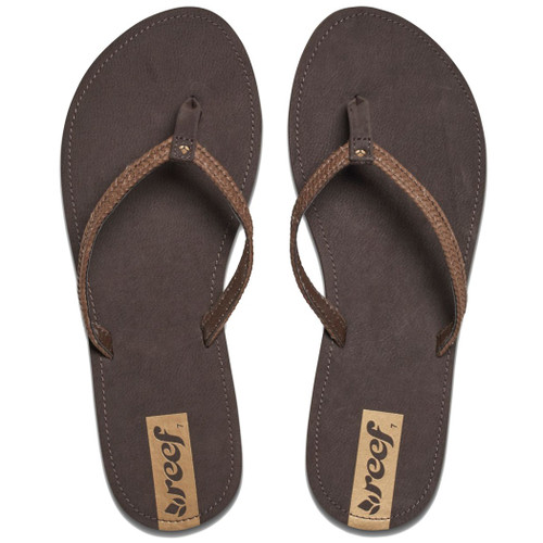 Reef Women's Flip Flop - Downtown Truss - Dark Brown
