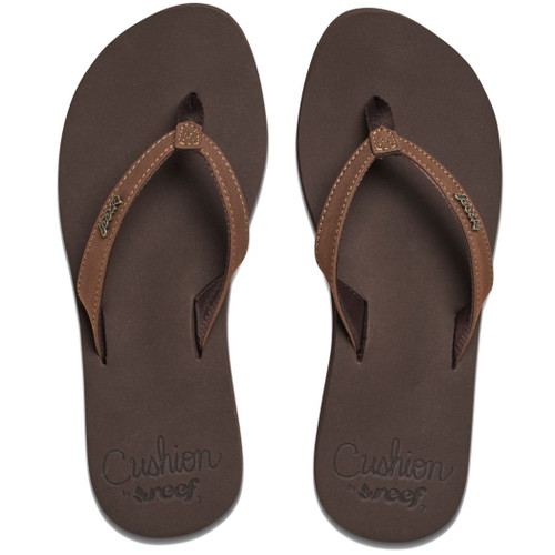 Reef Women's Flip Flop - Cushion Luna - Brown
